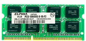 ELPIDA PC3-10600 8GB DDR3 1333MHz Laptop Memory